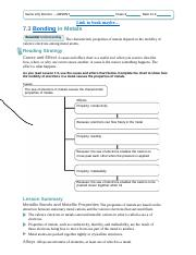 chapter 6 review chemical bonding answer key