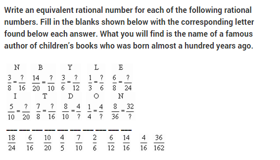grade 9 rational numbers review