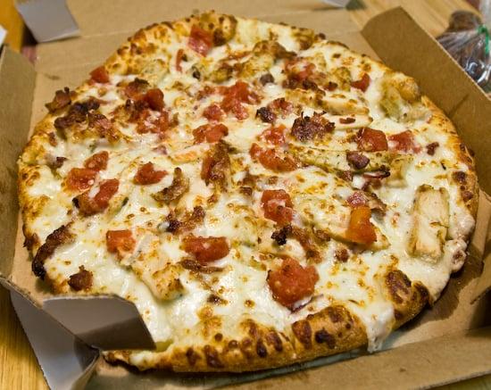 chicken bacon alfredo pizza dominos review