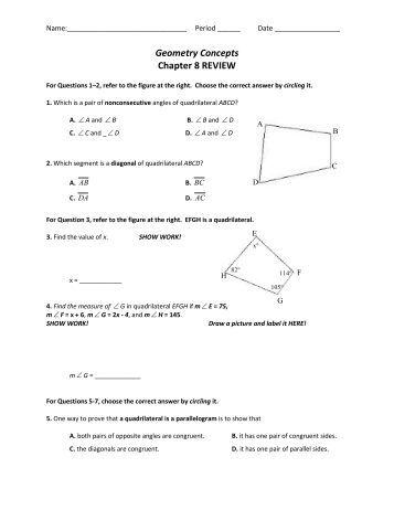 grade 8 math exam review