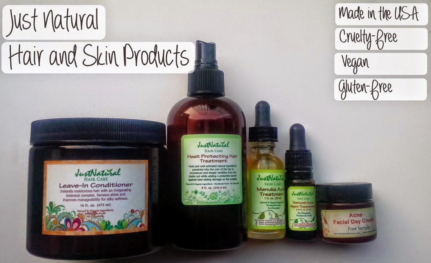 just natural skin care hair growth reviews