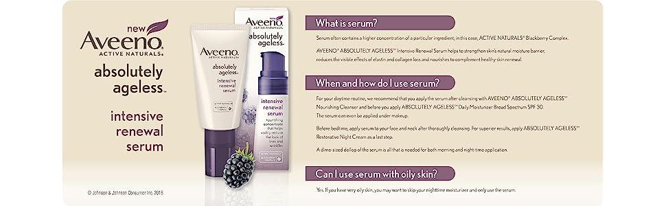 aveeno absolutely ageless intensive renewal serum reviews