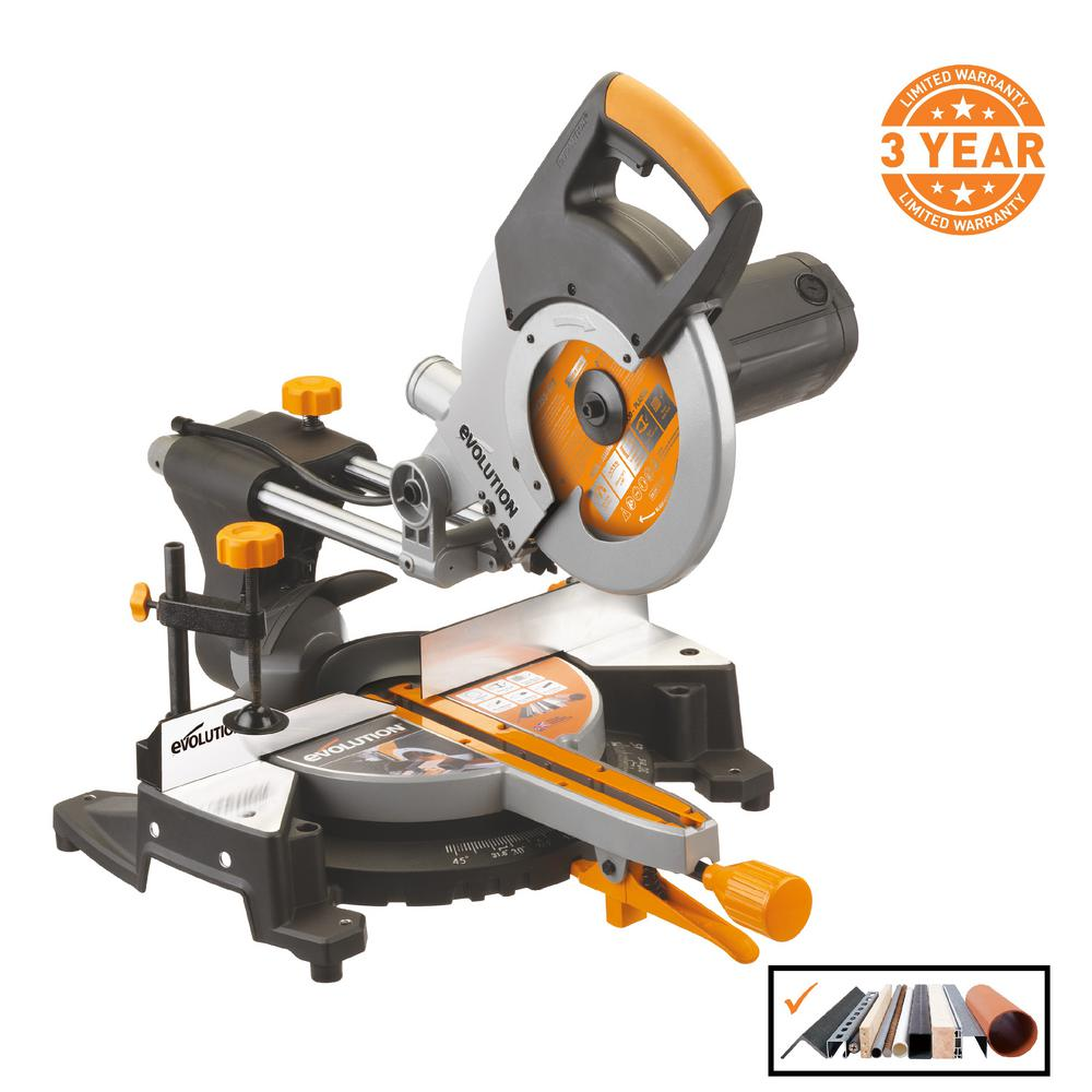 evolution multi purpose sliding mitre saw review