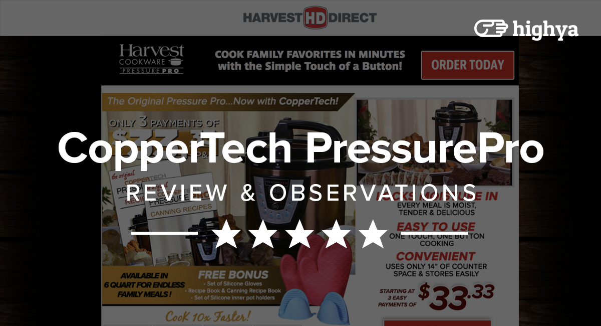 coppertech pressure pro deluxe reviews