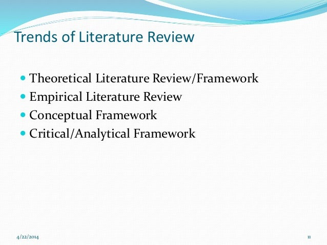 difference between empirical literature review and theoretical literature review