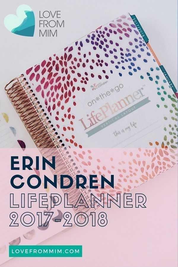 erin condren life planner 2018 review