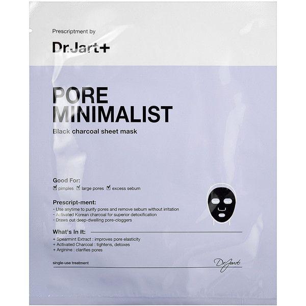 dr jart+ pore minimalist black charcoal sheet mask review